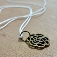 Bronze Charm -Tiny Flower from Pelhuaz by Red