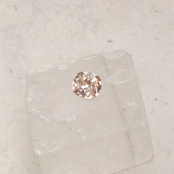 Peach Champagne Faint Orange Square Cushion Sapphire 2.45cts for Engagement Ring Wedding Anniversary