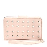 STUDDED FAUX LEATHER PHONE WRISTLET