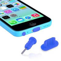 Everydaysource? Compatible with Apple? iPhone? 6 Plus (5.5) Apple? iPhone? 5/ 5S/ 5C Blue Headset Dust Cap with SIM Card Eject Pin & Charging Dock Port Plug, 2-Pack