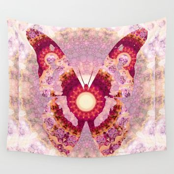 Mandala Butterfly 1 - Art by Sharon Cummings Wall Tapestry by Sharon Cummings