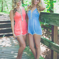 Follow the Breeze Romper - Periwinkle