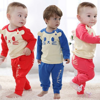 New  babies poppy cat casual long sleeve outfits = 1704247364