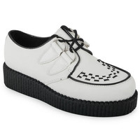 NEW LADIES PLATFORM WOMENS LACE UP CREEPERS PUNK GOTH FLAT SHOES BOOTS SIZE 5-10