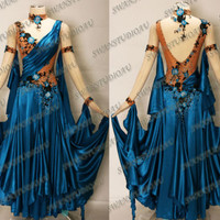 BALLROOM COMPETITION DRESS CUSTOM MADE ON YOUR MEASUREMENTS  WB1281
