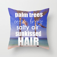 Summer* Throw Pillow by AnchorMySoul