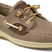 Sperry Top-Sider Ivyfish Metallic Linen 3-Eye Boat Shoe Griege/Gold, Size 12M  Women's Shoes