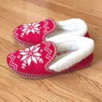 Toasty Fair Isle Sweater Slippers