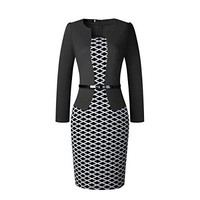 Caracilia Women Wear to Work Business Party Bodycon One-Piece Dress