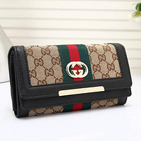 Best Gifts Gucci Women Leather Multicolor Purse Wallet