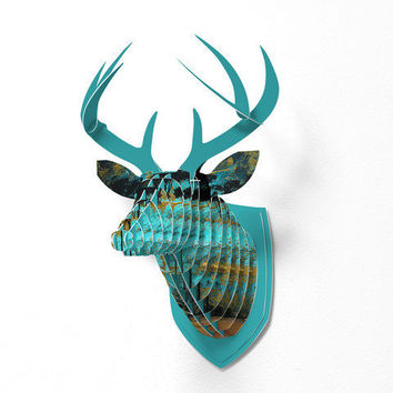 DENY Designs Home Accessories | Madart Inc. Parting Of Ways 1 Faux Deer Mount