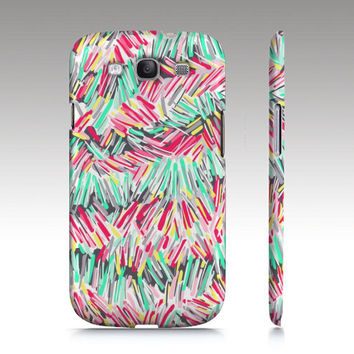 Samsung Galaxy S3 case, Galaxy S4 case, colorful abstract painting, modern art for your phone