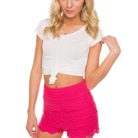 Carmel Knot Crop Top in White