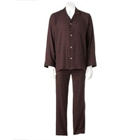 Jockey Classic-Fit Plaid Flannel Pajama Set