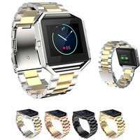 Stylish Stainless Steel Wrist Watch Strap Replacement Band for Fitbit Blaze