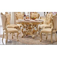 Precious Round Traditional Designed Dining Table Set