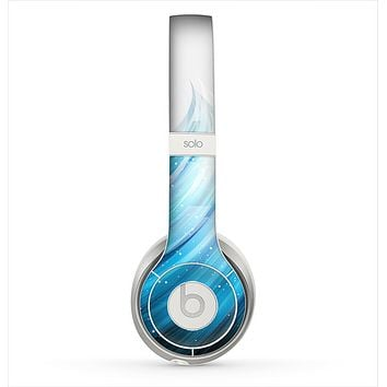 The Black and Blue Highlighted HD Wave Skin for the Beats by Dre Solo 2 Headphones