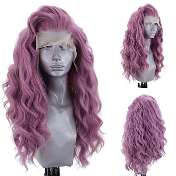 Synthetic Lace Front Women Cosplay Wig