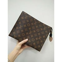 "Hot Sale ""Louis Vuitton"" LV Popular Leather Makeup Bags Handbag I/A"