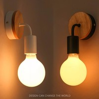 Modern Wall Lamps Sconces Living Room Wooden Restaurant Bedroom Decorative Wall Lights Lamparas Home Lighting Fixture