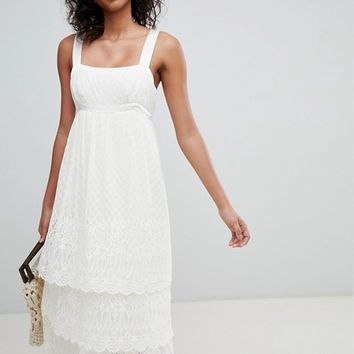 Ghost pretty lace cami dress at asos.com