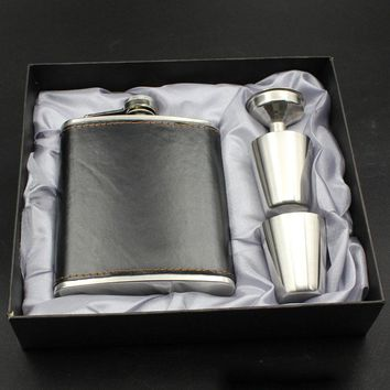 Flagon Drink With Box Gift Portable 7oz Stainless Steel Flask Whiskey Hot Sale