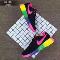 """NIKE"" Fashion Casual Sports Running Shoes Rainbow Color Soles For Women Men"