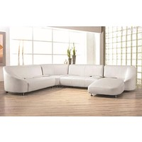 Exotic Contemporary Luxurious Leather Sofa Set