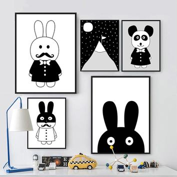 Modern Cartoon Design Geometric Posters Decorative Wall Painting Canvas Art Print Wall Pictures Home Decoration Canvas Painting