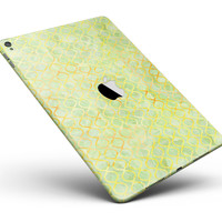 "Green and Yellow Watercolor Helix Pattern Full Body Skin for the iPad Pro (12.9"" or 9.7"" available)"
