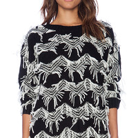 MINKPINK Lost In Space Pullover in Black & White
