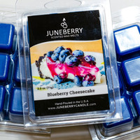 Blueberry Cheesecake Scented Wax Melts - Highly Scented Soy Wax Blend - Six Melts, Tarts, Hand Poured By Juneberry Candle