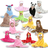 Animal Towels 12 color with Hooded Bathrobe/