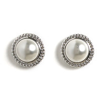 Jody Coyote Stud Earrings from the Perla Collection - Large Cabochon