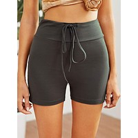 Drawstring Bike Short