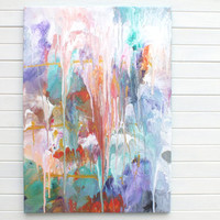 Original Large XL Abstract Art Painting Multicolor Acrylic on Canvas