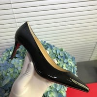 Hot Christian Louboutin Cl Kate Pumps Black Heel Height 6.5cm