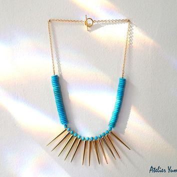 Turquoise Statement Necklace  statement jewelry by AtelierYumi