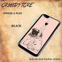 Every Pug Have LoveSnap on Black White and 3D Iphone 6 Plus Case