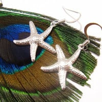 Starfish Earrings for Bridesmaids in Beach Wedding by SeaglassGallery