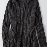 AEO Women's Textured Hooded Cardigan