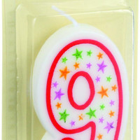 Cake Mate Birthday Party Candle - Numeral - 9 - 3 In - 1 Count - Case Of 6
