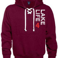 Tie Collar Hoodie - Lake4Life - Promoting and preserving the Great Lakes lifestyle