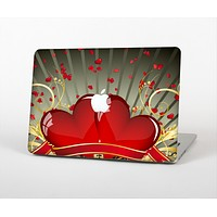 """The Gold Ribbon Love Hearts Skin for the Apple MacBook Air 13"""""""