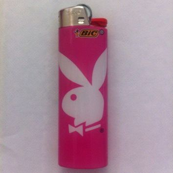 BIC BIG PLAYBOY BUNNY LIGHTER ~ CUTE PINK / The Best Kind