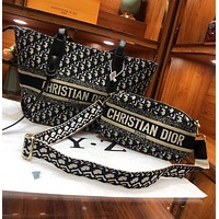 Dior 2021 new shopping bag original Lingge Tote can be single shoulder bag two piece