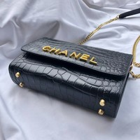 CHANE Double C vintage Chanl jumbo Leather silver gold Chain Shoulder Bag Tote 2020 New