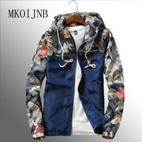Trendy Jackets Men 2018 Autumn Mens Hooded Jacket Slim Fit Homme Floral Jacket Male Popular tracksuit Brand Windbreaker Men Clothes AT_94_13