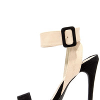 Things to Duo Black and Nude Heels