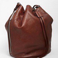 Whistles   Whistles Leather Bucket Bag in Tan at ASOS